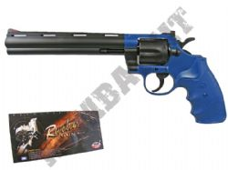 UA941 Spring Powered Revolver Airsoft BB Gun Black and Blue